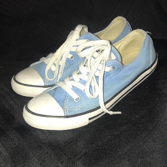 89e381750192f0 Converse Shoes - Light Blue Converse women s size 5 low tops